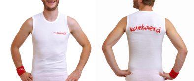 Weisses-Shirt-ohne-aermel