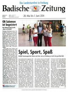 Badische Zeitung Landesturnfest Freiburg